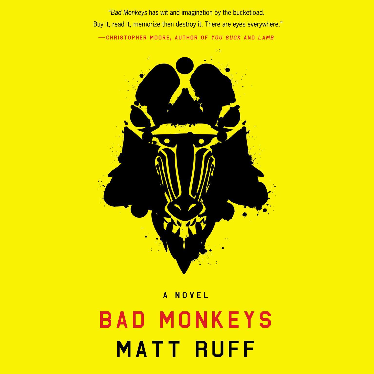Printable Bad Monkeys: A Novel Audiobook Cover Art