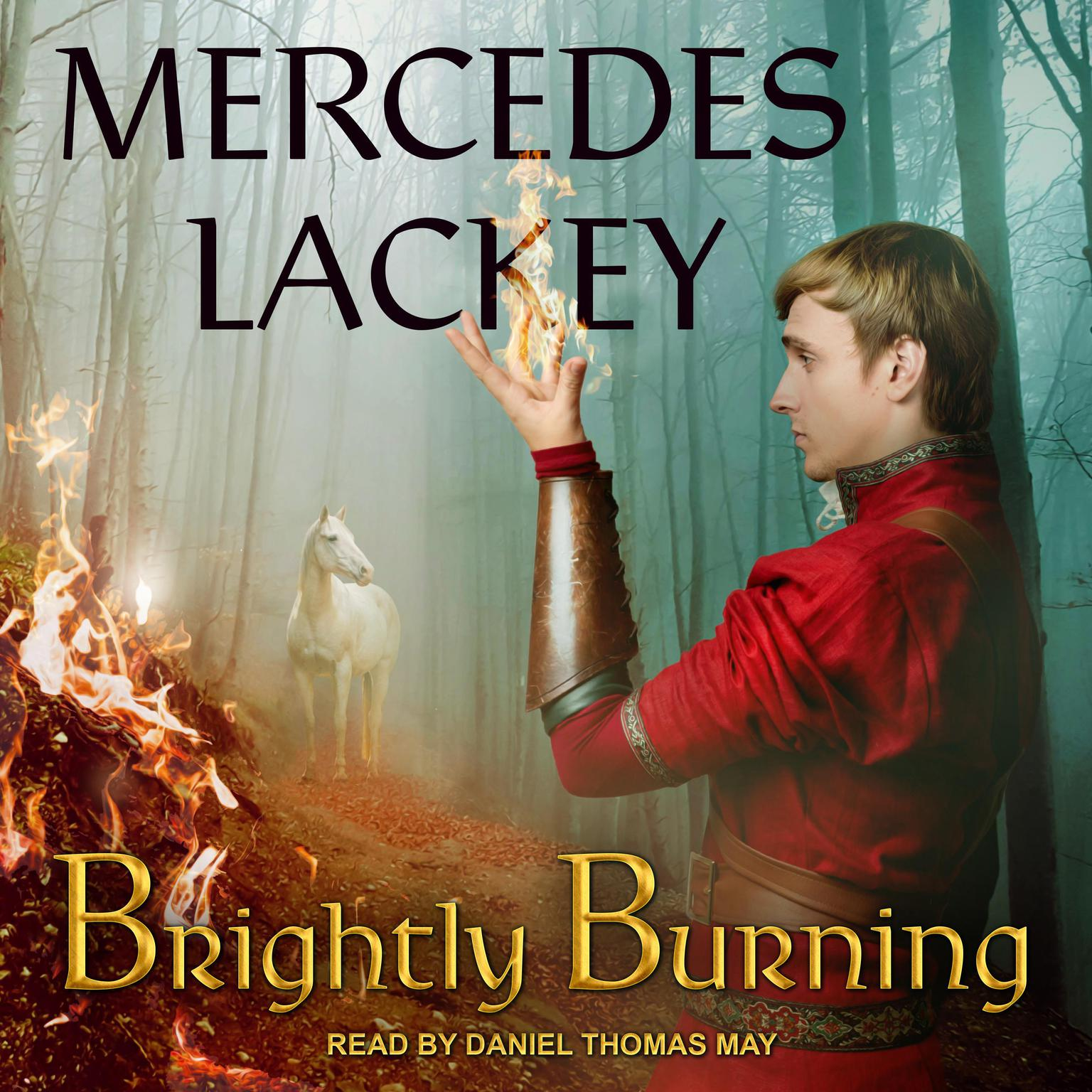 Printable Brightly Burning Audiobook Cover Art