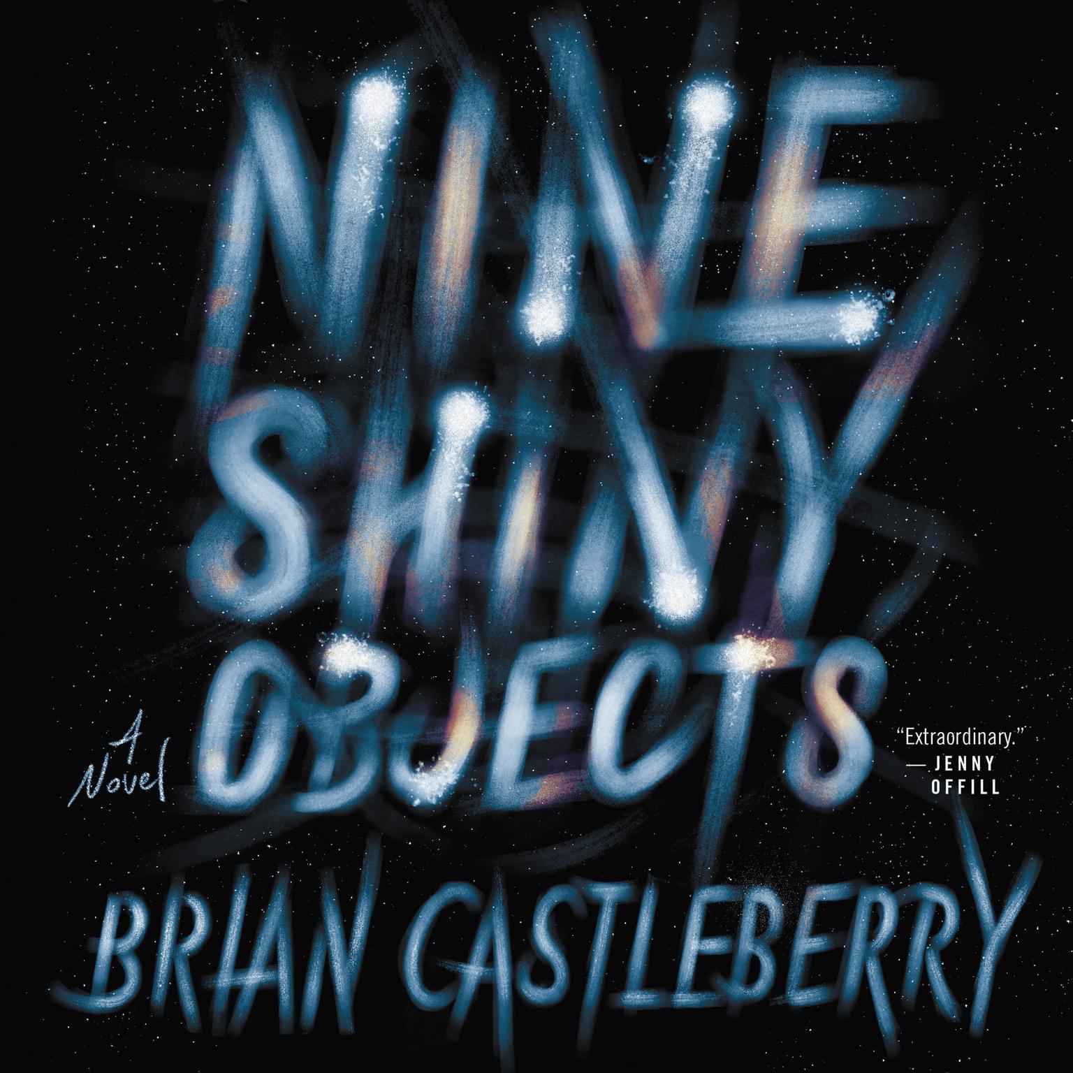 Printable Nine Shiny Objects: A Novel Audiobook Cover Art