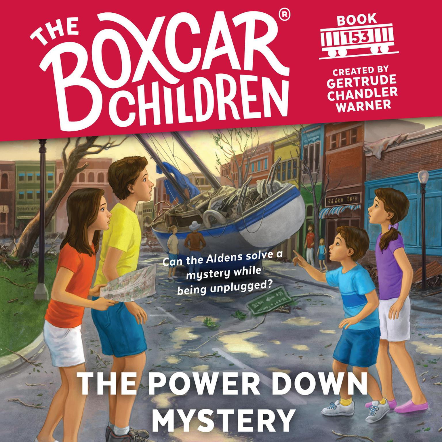 Printable The Power Down Mystery Audiobook Cover Art