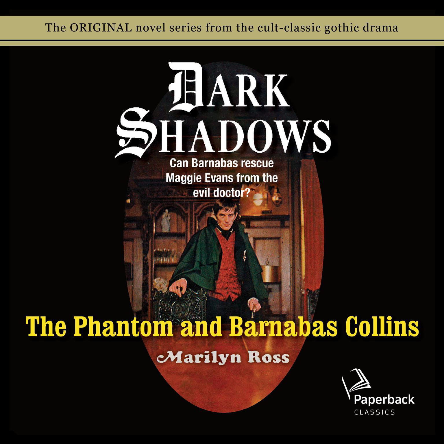 Printable The Phantom and Barnabas Collins Audiobook Cover Art