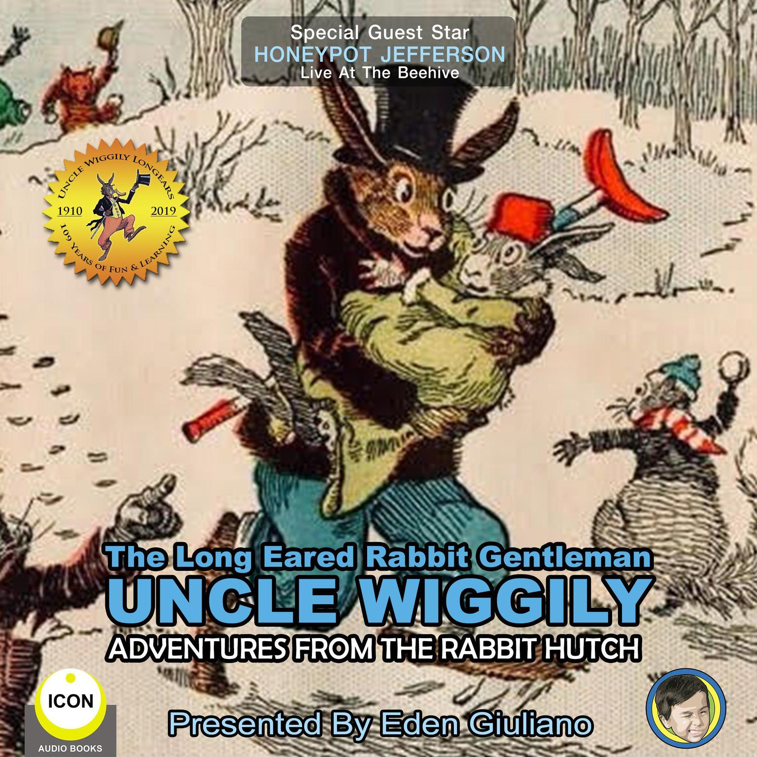 Printable The Long Eared Rabbit Gentleman Uncle Wiggily - Adventures From The Rabbit Hutch Audiobook Cover Art