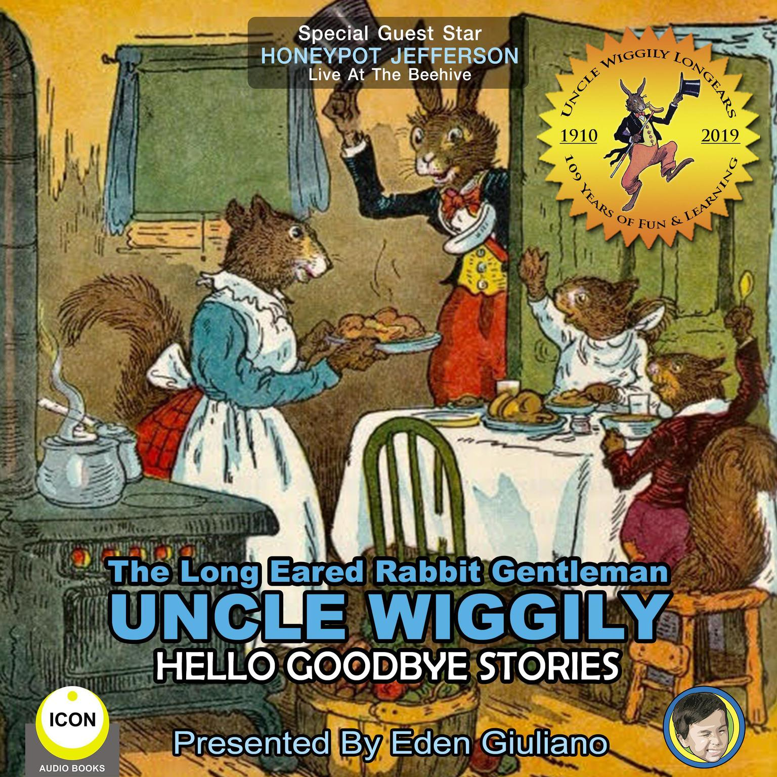 Printable The Long Eared Rabbit Gentleman Uncle Wiggily - Hello Goodbye Stories Audiobook Cover Art