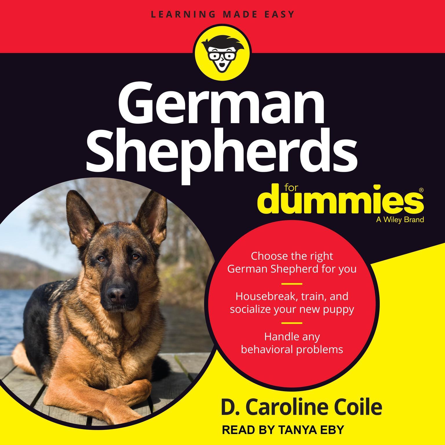 Printable German Shepherds for Dummies Audiobook Cover Art