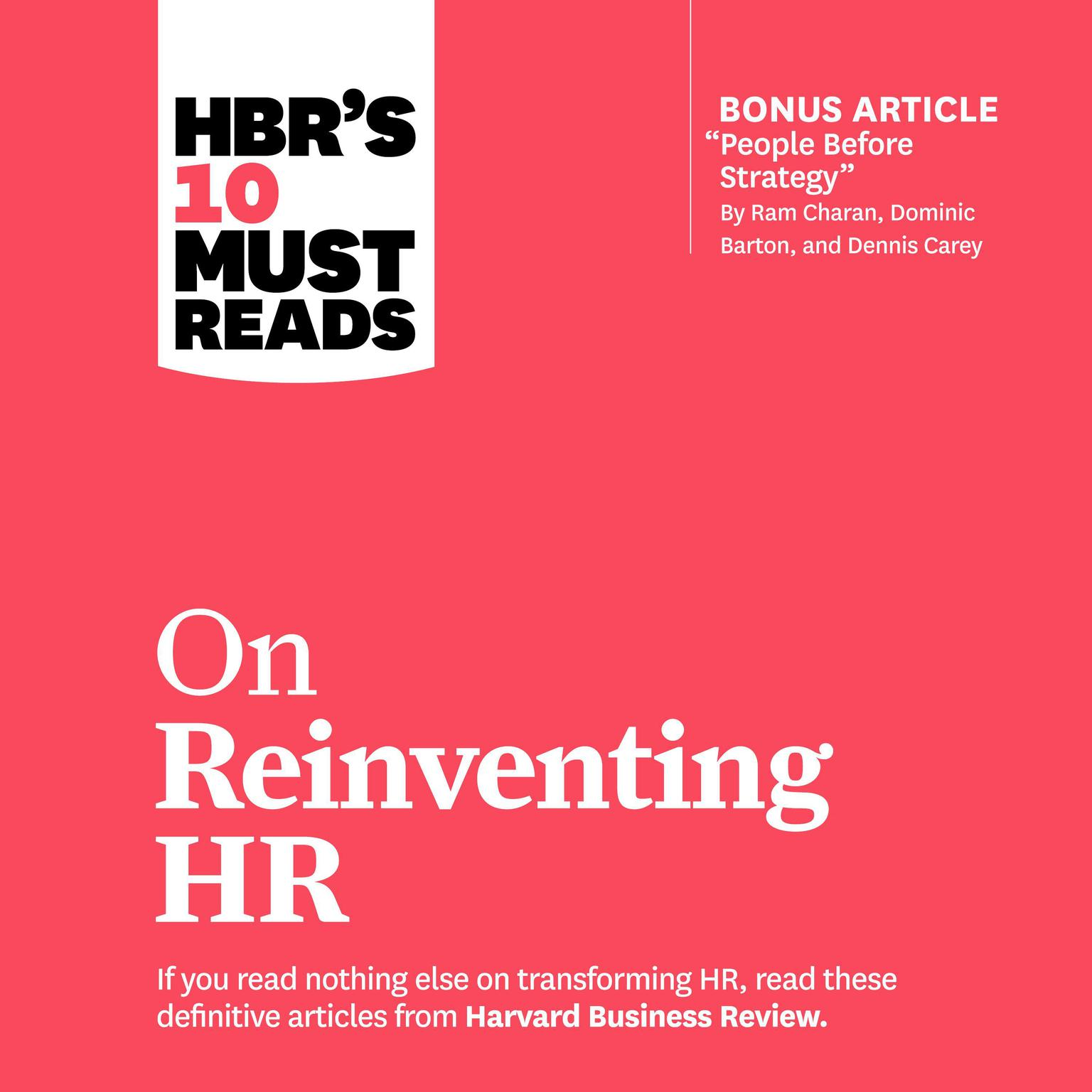 HBRs 10 Must Reads on Reinventing HR Audiobook, by Ram Charan