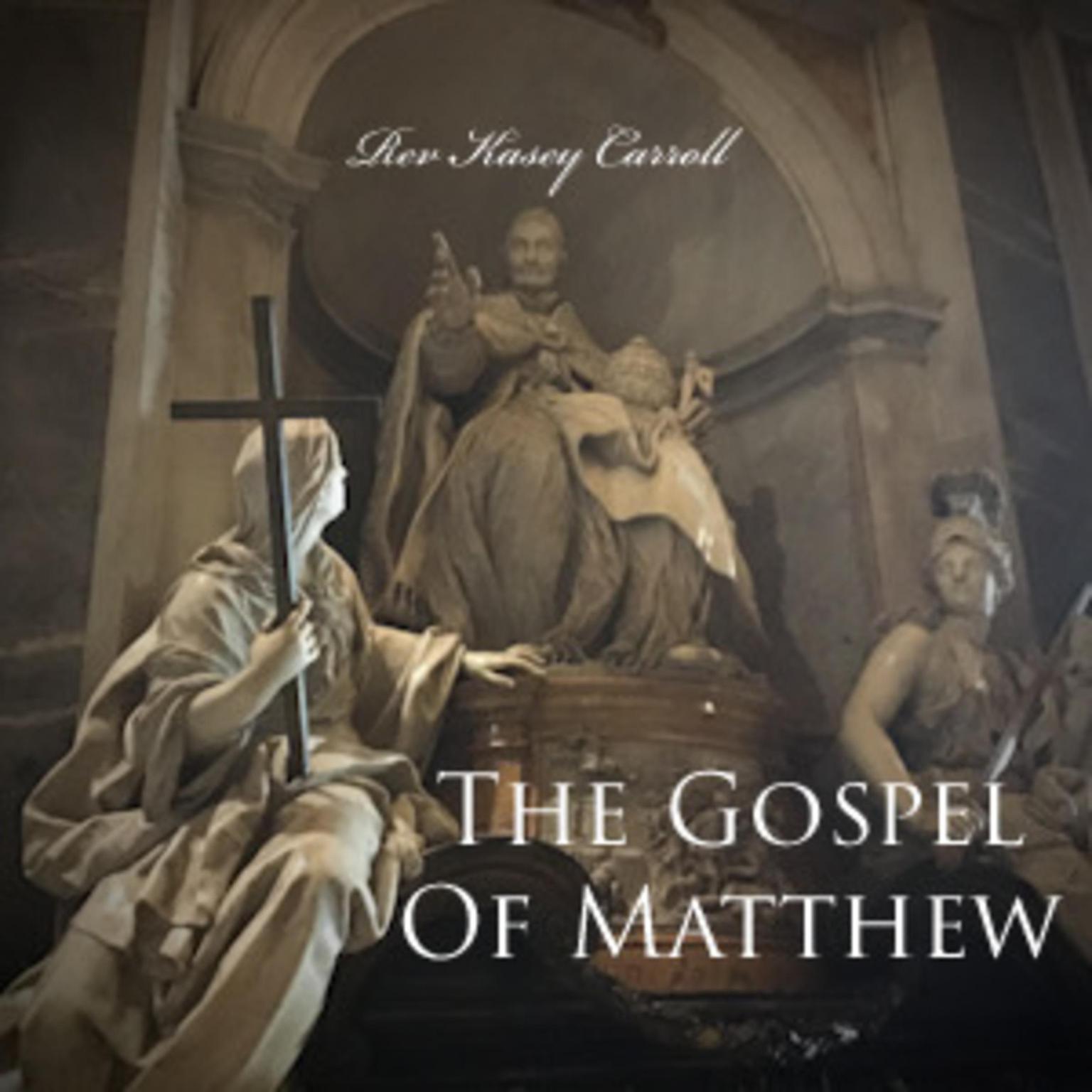 Printable Gospel of Matthew Audiobook Cover Art