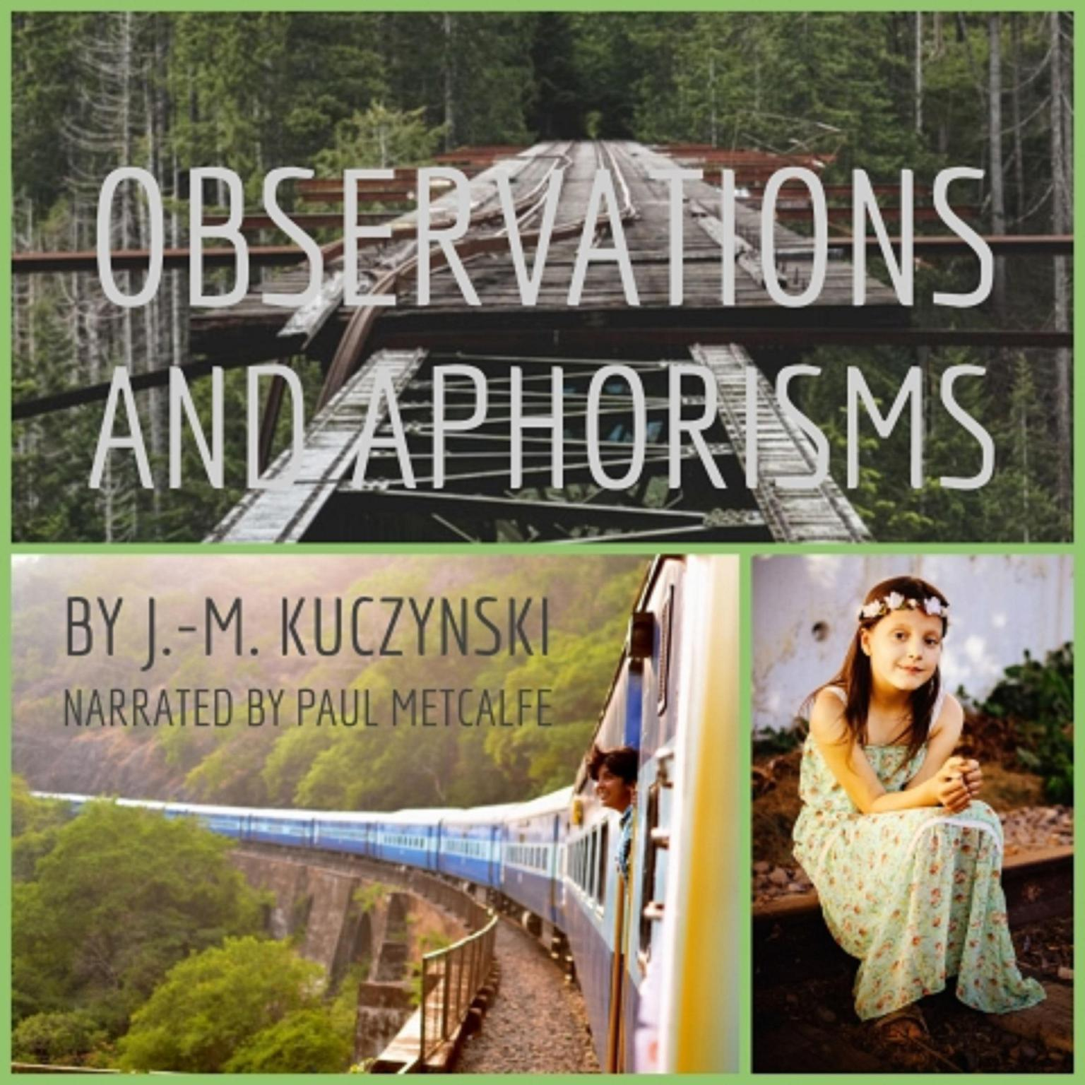 Printable Observations and Aphorisms Audiobook Cover Art