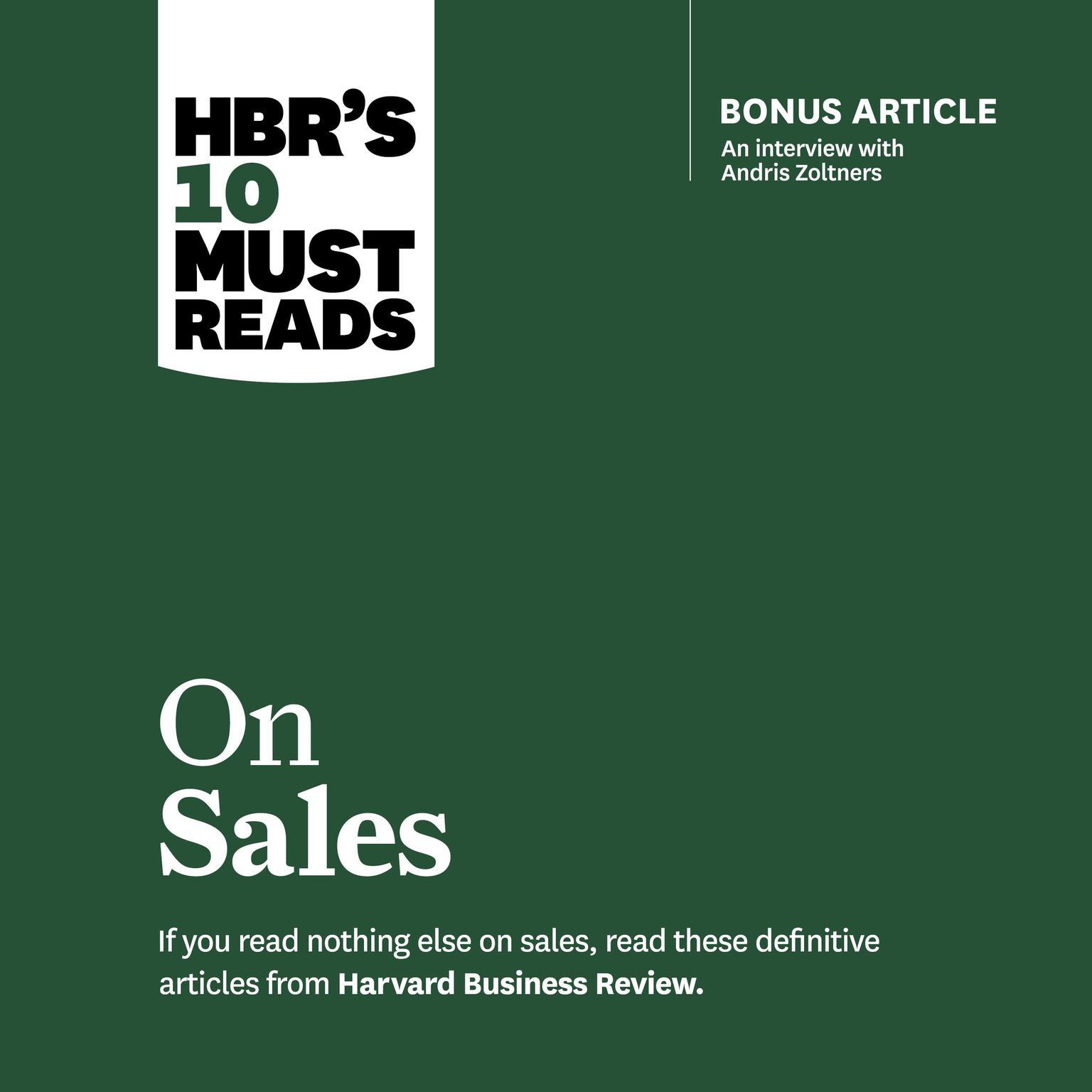HBRs 10 Must Reads on Sales Audiobook, by Philip Kotler