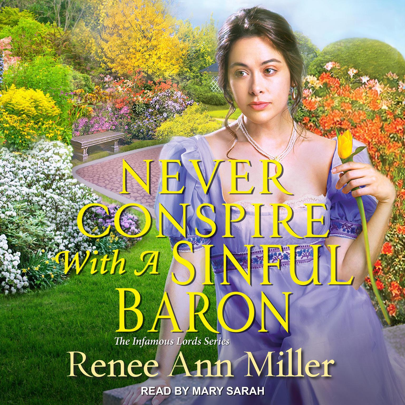 Printable Never Conspire with a Sinful Baron Audiobook Cover Art