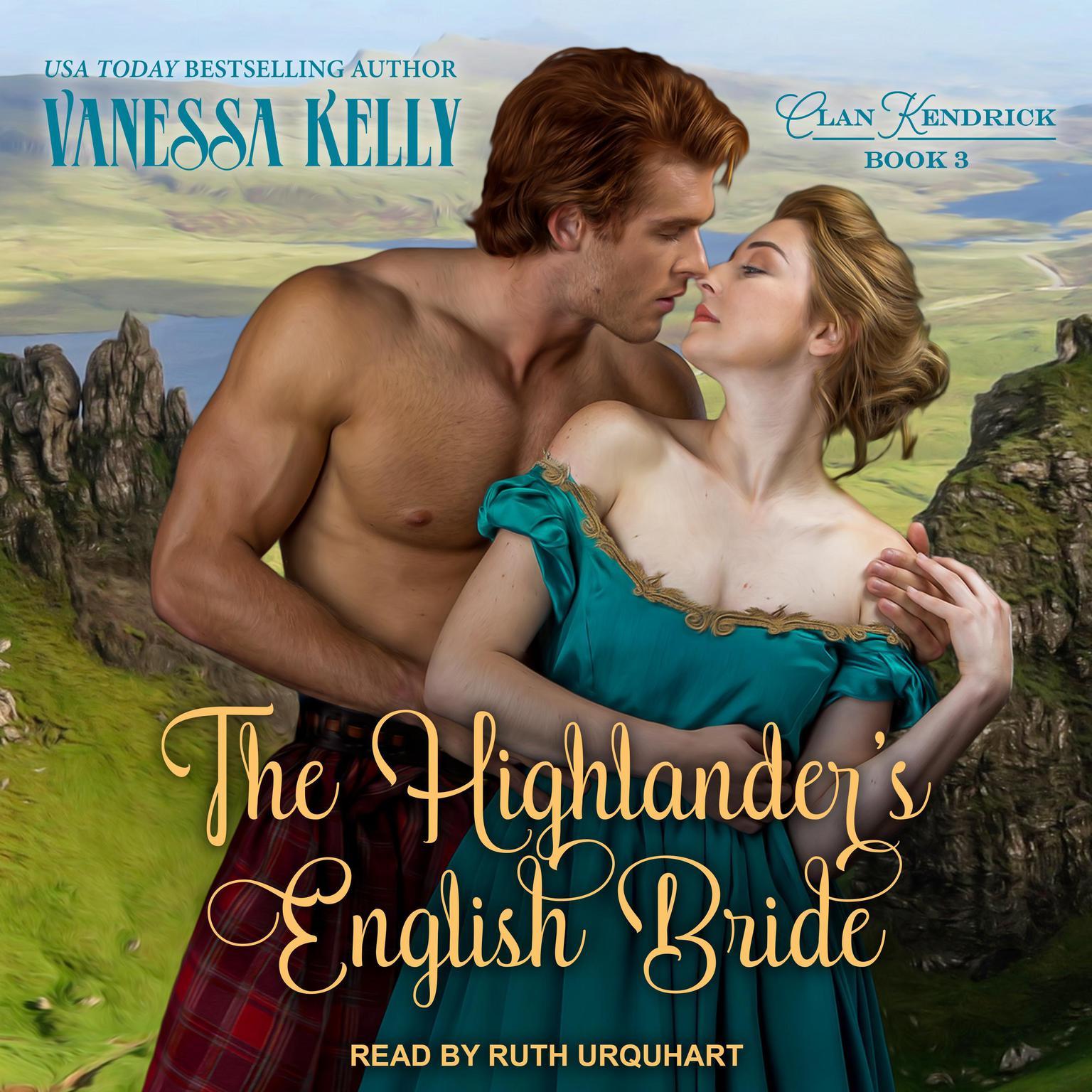Printable The Highlander's English Bride Audiobook Cover Art