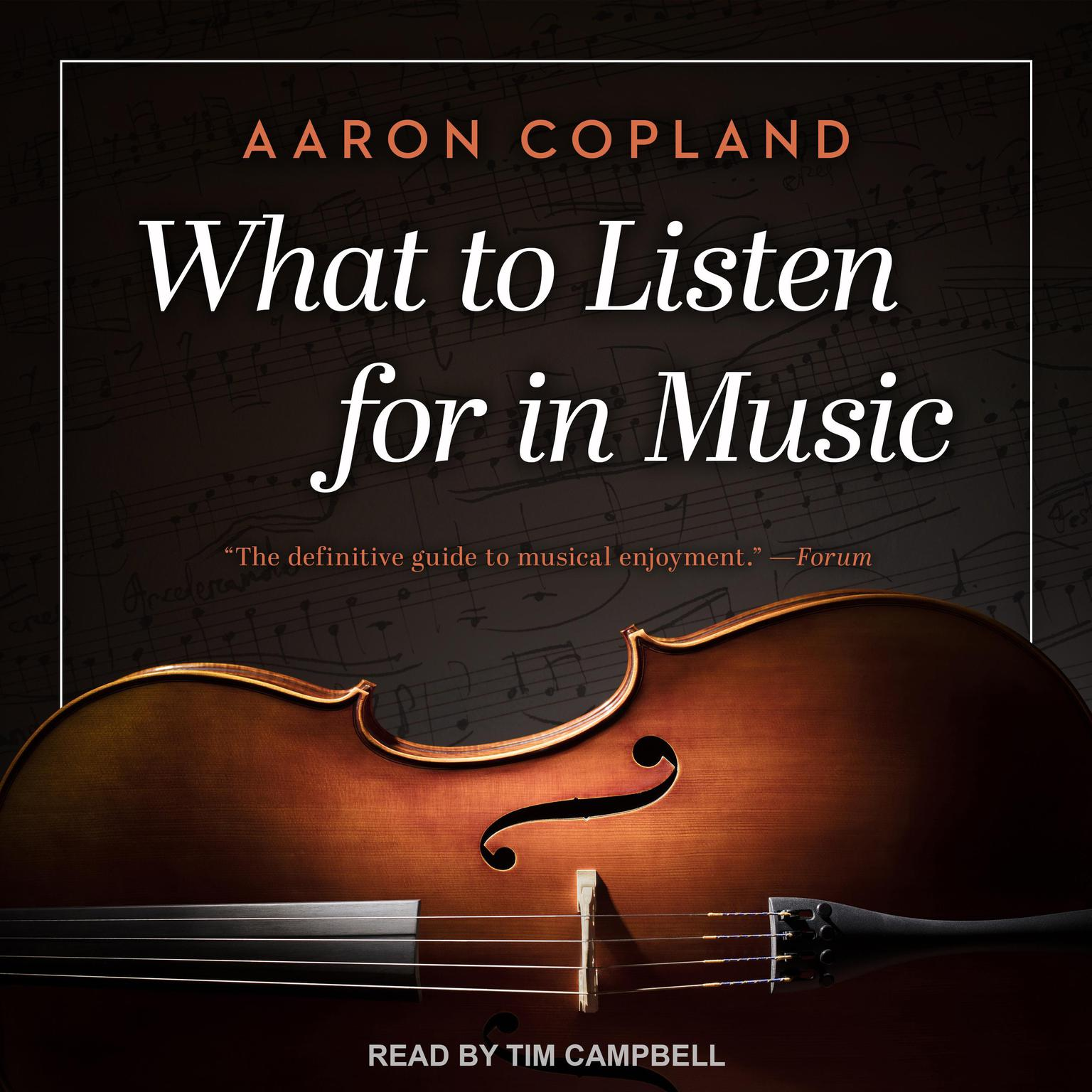 Printable What to Listen for in Music Audiobook Cover Art