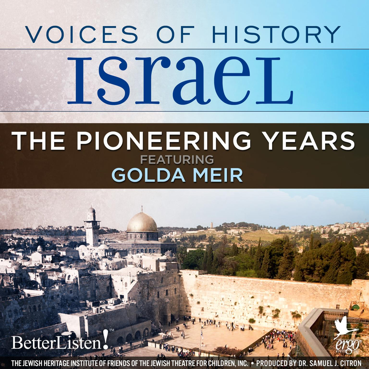 Printable Voices of History Israel: The Pioneering Years Audiobook Cover Art