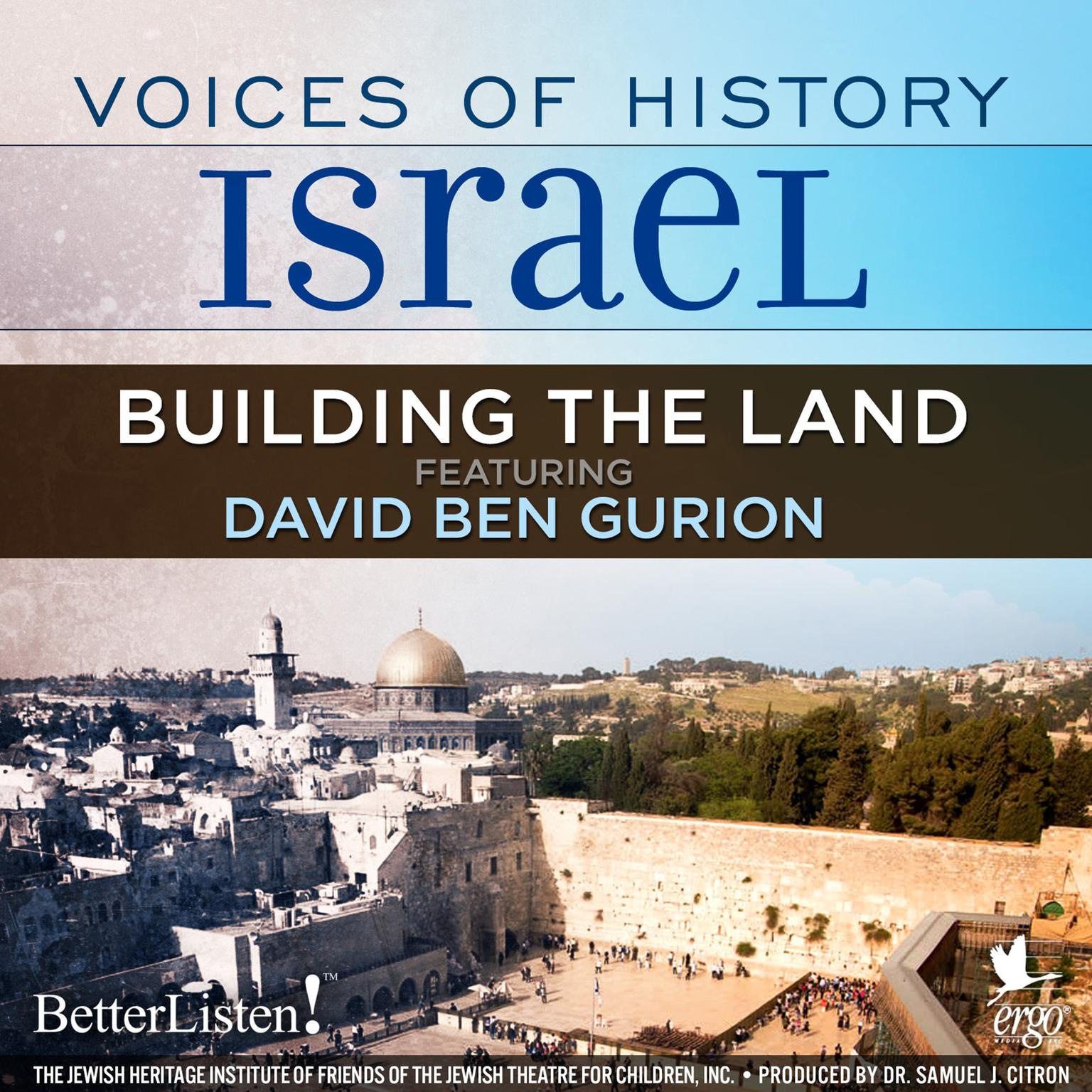 Printable Voices of History Israel: Building the Land Audiobook Cover Art