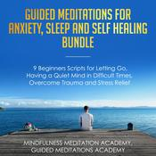 Guided Meditations for Anxiety, Sleep and Self Healing Bundle: 9 Beginners Scripts for Letting Go, Having a Quiet Mind in Difficult Times, Overcome Trauma and Stress Relief Audiobook, by Guided Meditations Academy