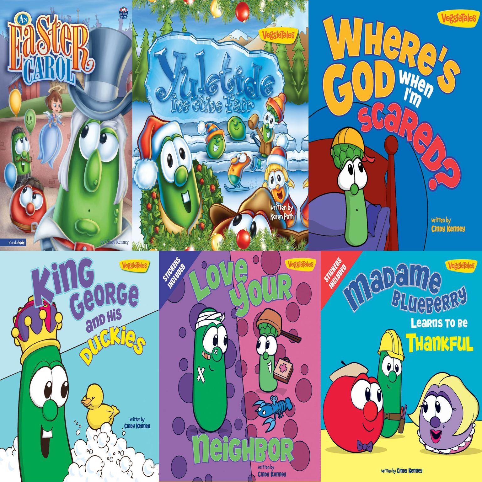 Printable VeggieTales Children's Book Collection Audiobook Cover Art