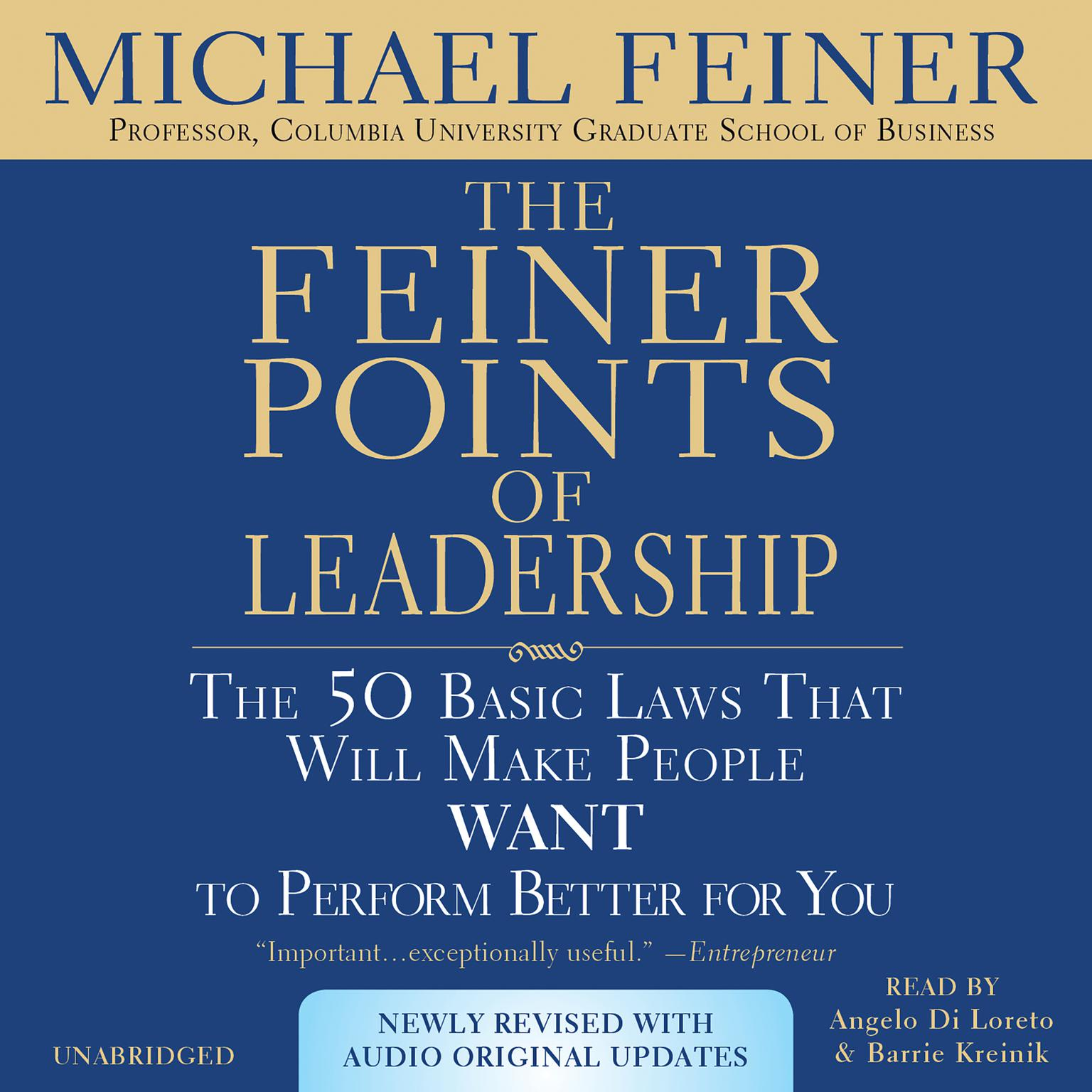 Printable The Feiner Points of Leadership: The 50 Basic Laws That Will Make People Want to Perform Better for You Audiobook Cover Art