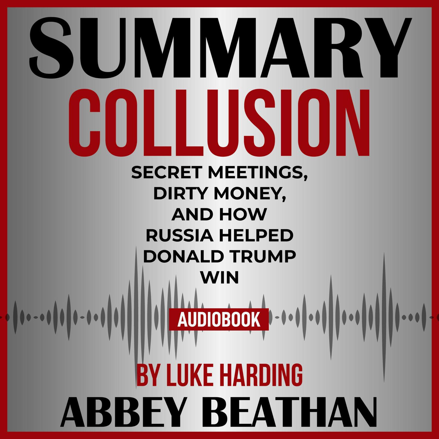 Printable Summary of Collusion: Secret Meetings, Dirty Money, and How Russia Helped Donald Trump Win by Luke Harding Audiobook Cover Art
