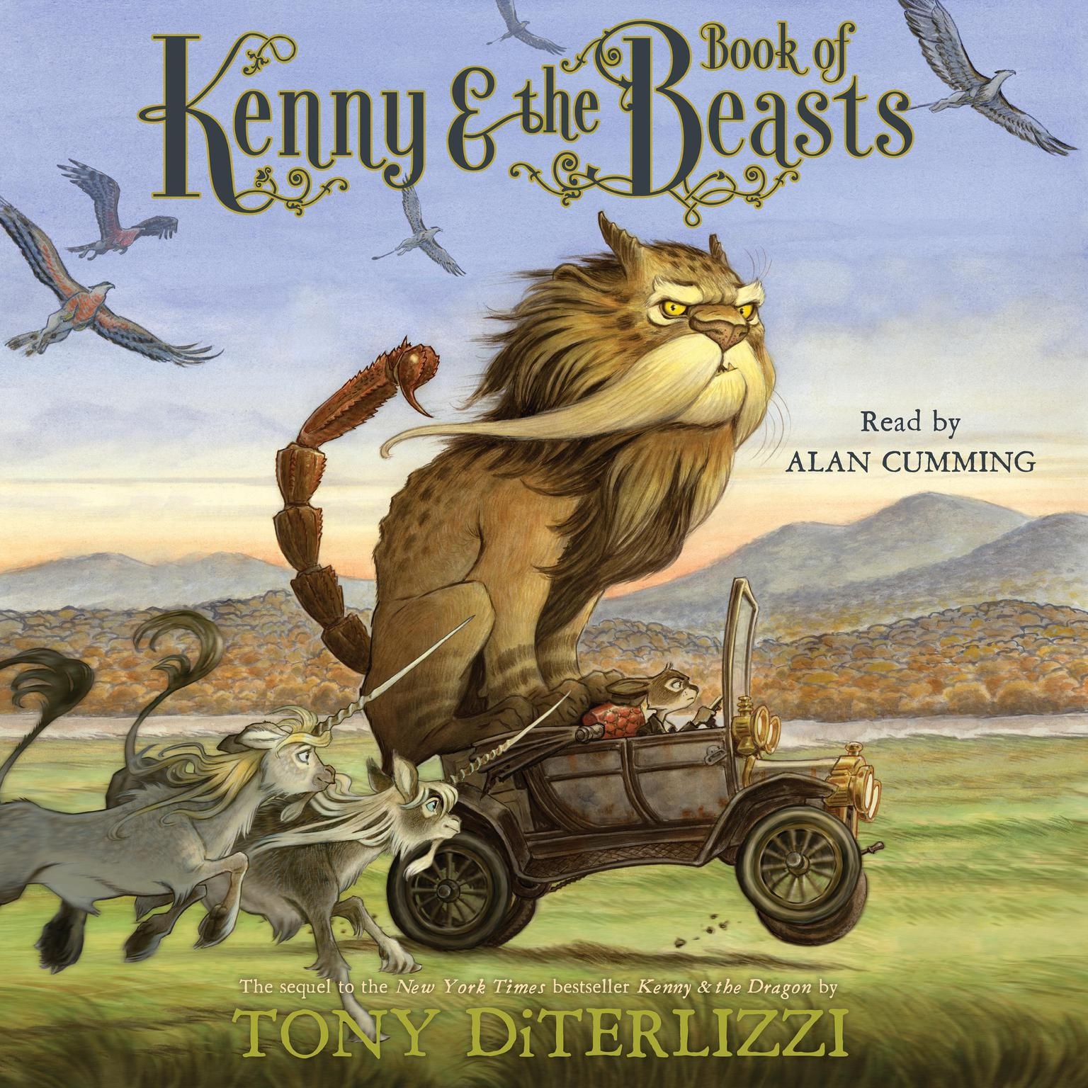 Printable Kenny & the Book of Beasts Audiobook Cover Art