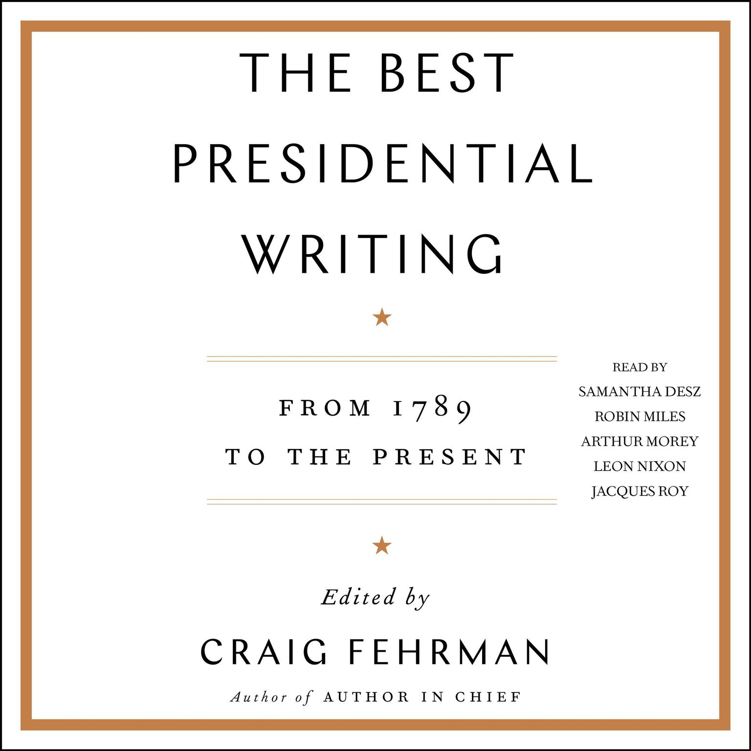 Printable The Best Presidential Writing: From 1789 to the Present Audiobook Cover Art