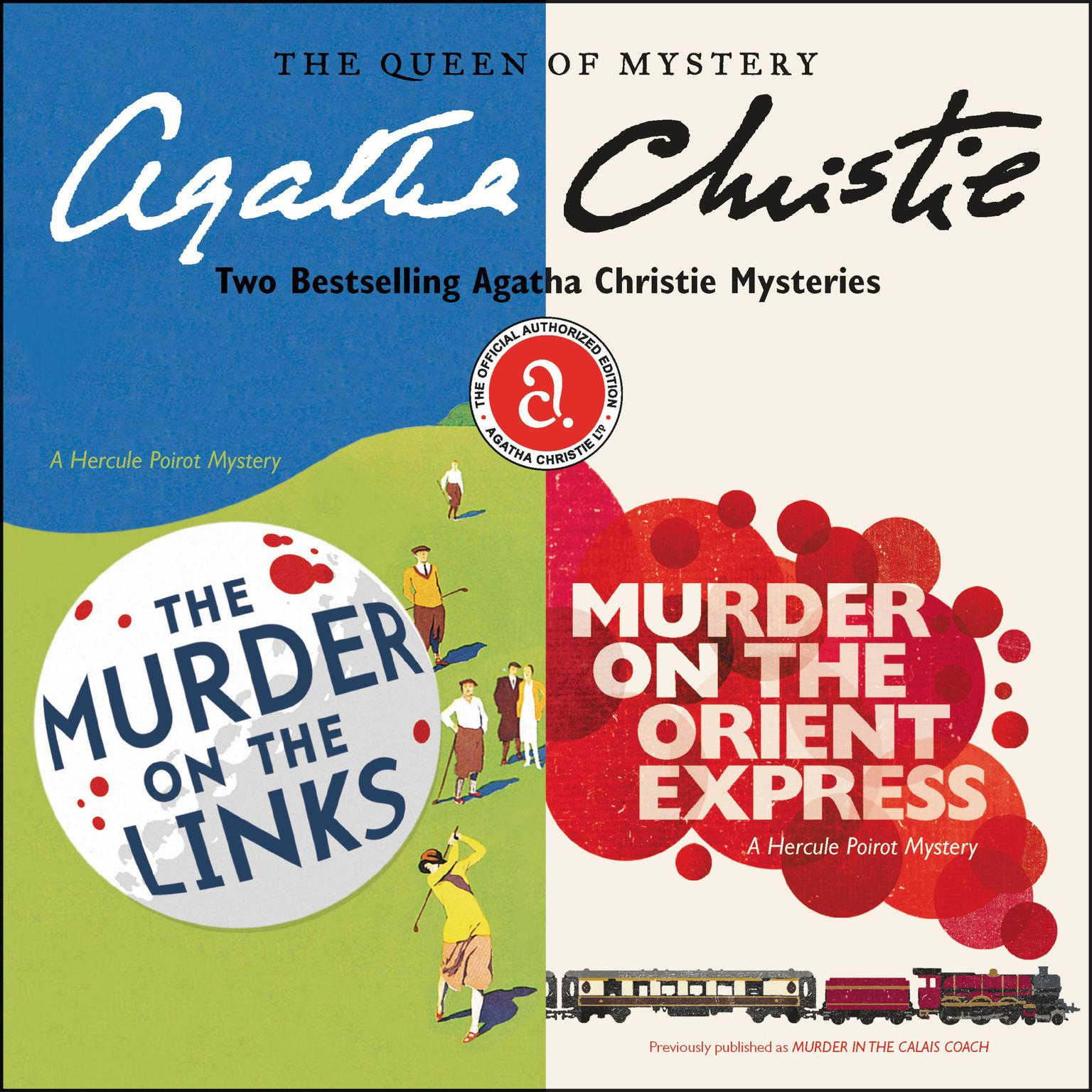 Printable The Murder on the Links & Murder on the Orient Express: Two Bestselling Agatha Christie Novels in One Great Audiobook Audiobook Cover Art