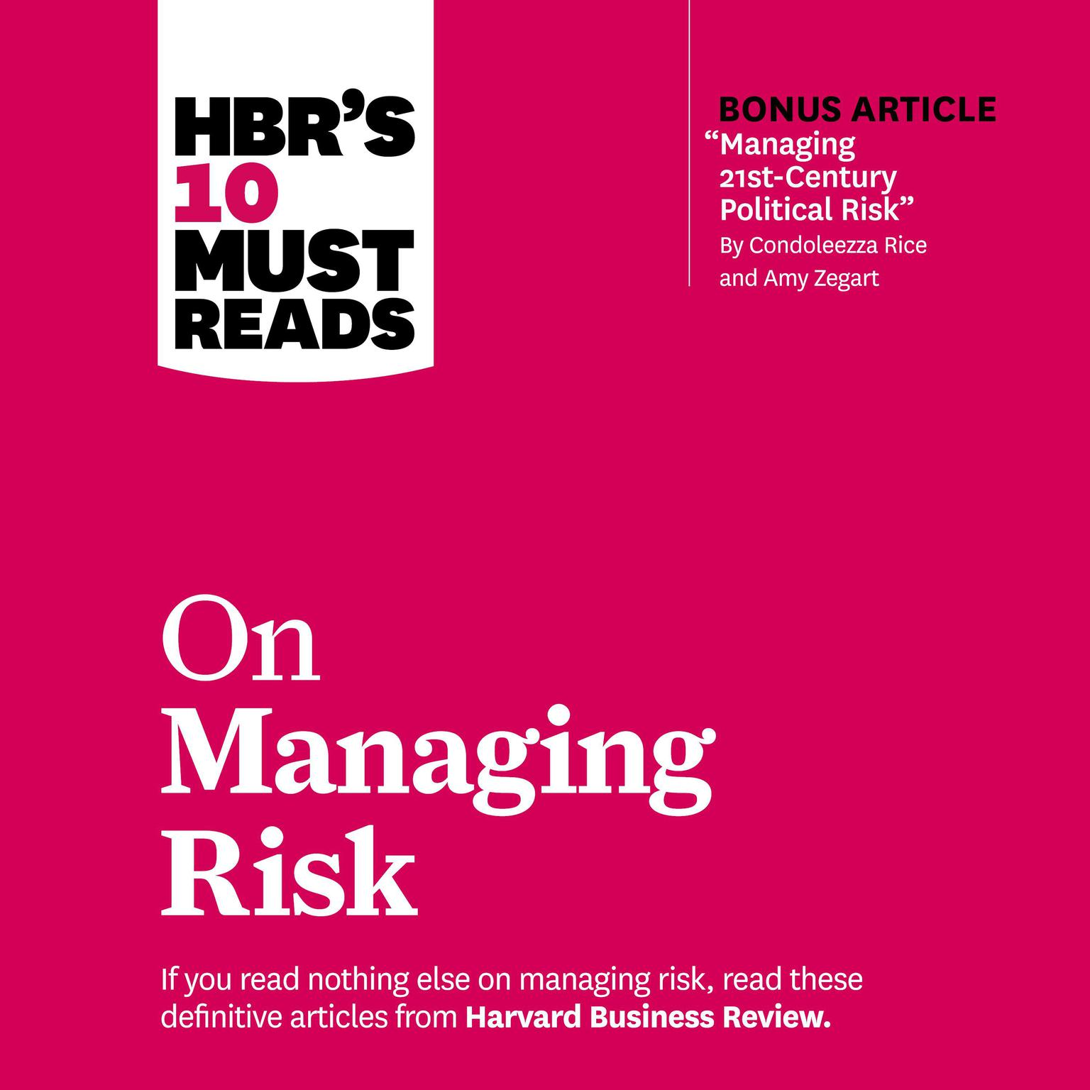 Printable HBR's 10 Must Reads on Managing Risk Audiobook Cover Art
