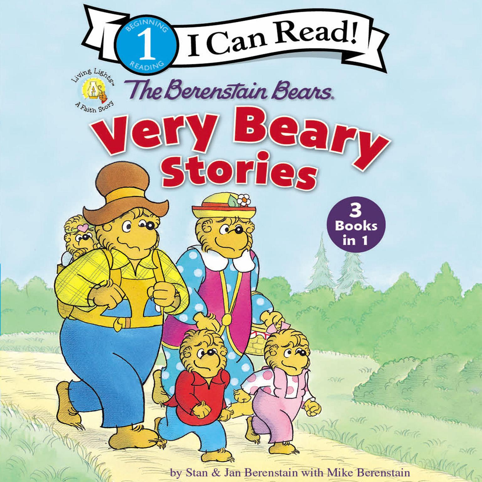 Printable The Berenstain Bears Very Beary Stories: 3 Books in 1 Audiobook Cover Art