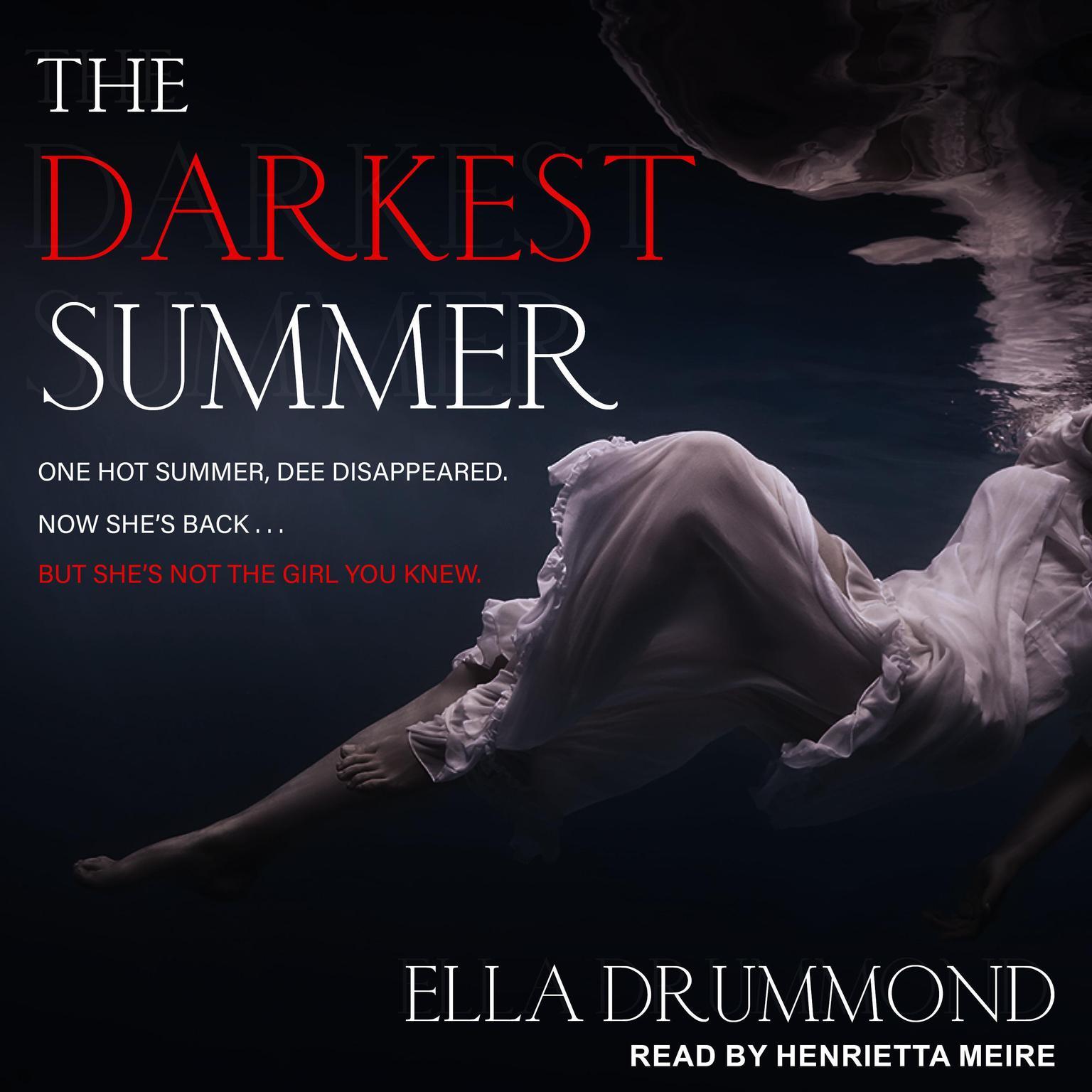 Printable The Darkest Summer Audiobook Cover Art