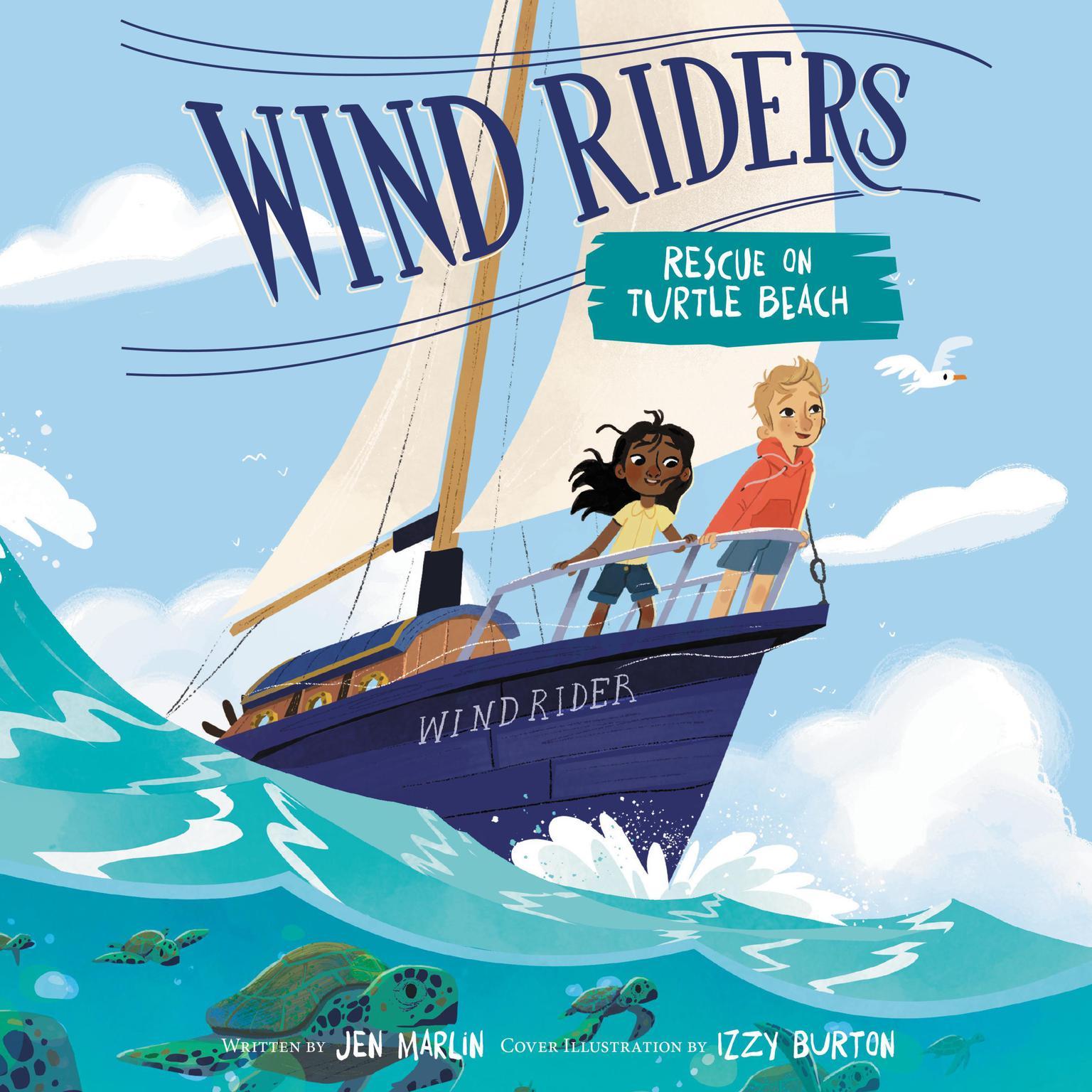 Wind Riders #1: Rescue on Turtle Beach Audiobook, by Jen Marlin