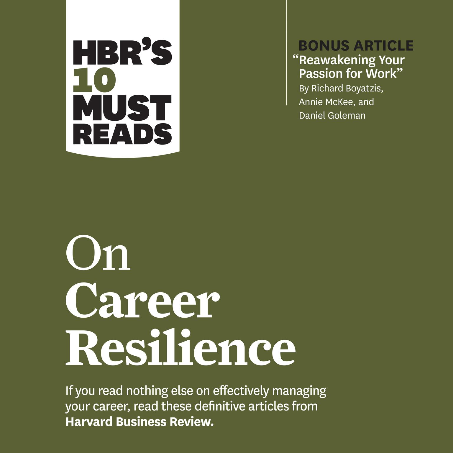 HBRs 10 Must Reads on Career Resilience Audiobook, by Harvard Business Review