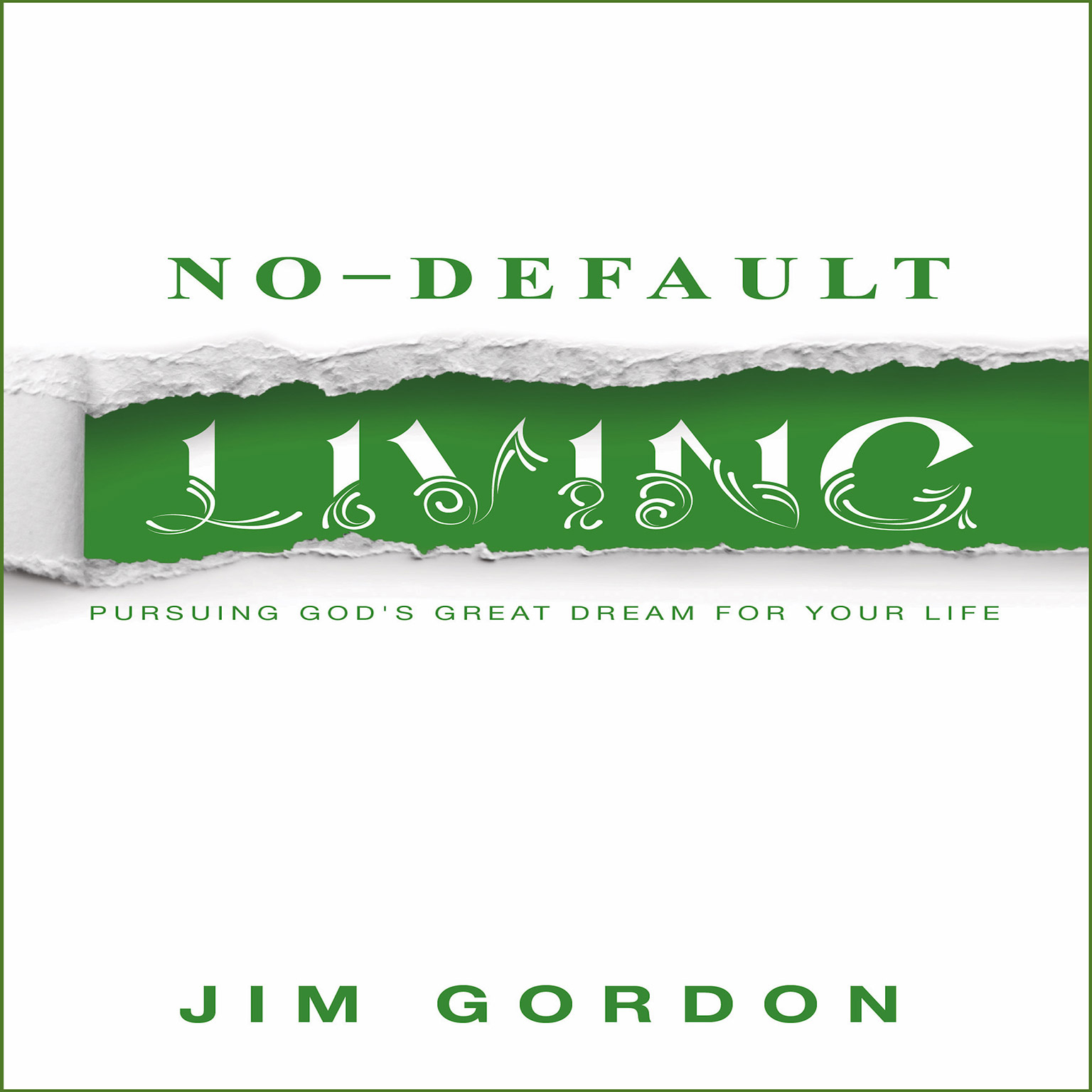 Printable No Default Living Audiobook Cover Art