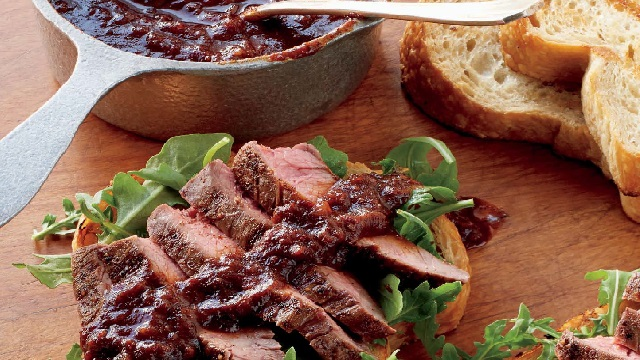 Steak Sandwiches on Texas Toast with Expresso Barbecue Sauce