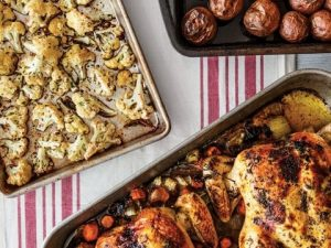 small-oven-roasted-chicken-with-roasted-red-bliss-potatoes-and-cauliflower-florets