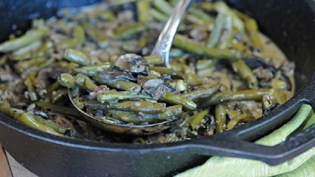 Grilled Green Bean Sausage Casserole