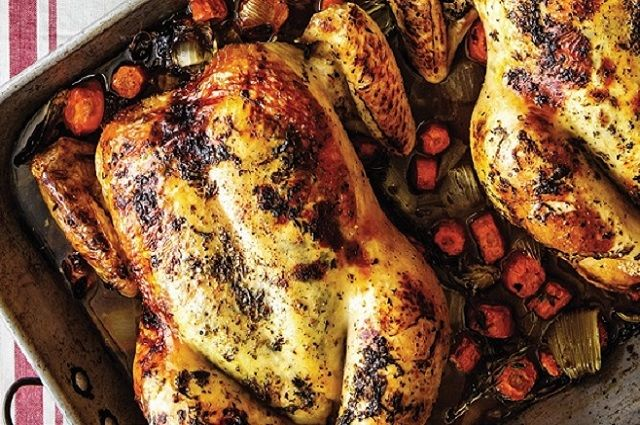 Oven-Roasted Chicken, Red Potatoes & Cauliflower Florets