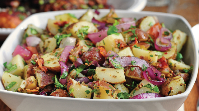 Texas New Potato Salad with Grilled Red Onion