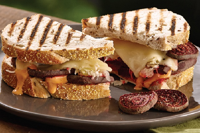 Grilled Reuben with Smoked Beet Pastrami