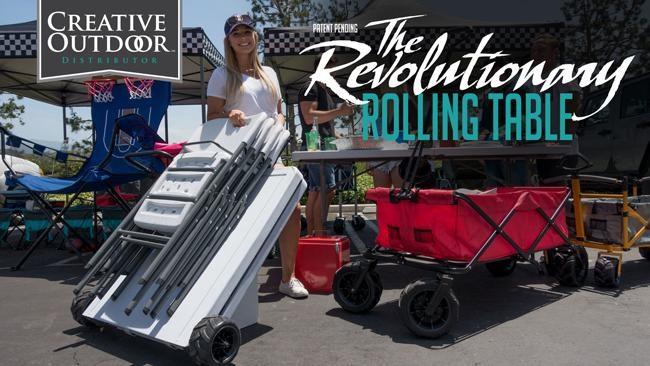 Creative Outdoor's Revolutionary Rolling Table