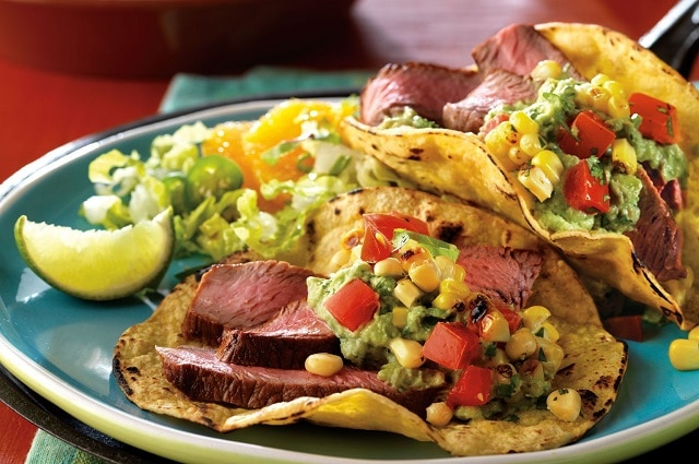 Cumin-Seasoned Steak with Spicy Grilled Corn Salsa