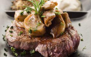 Steak & Brandied Mushrooms