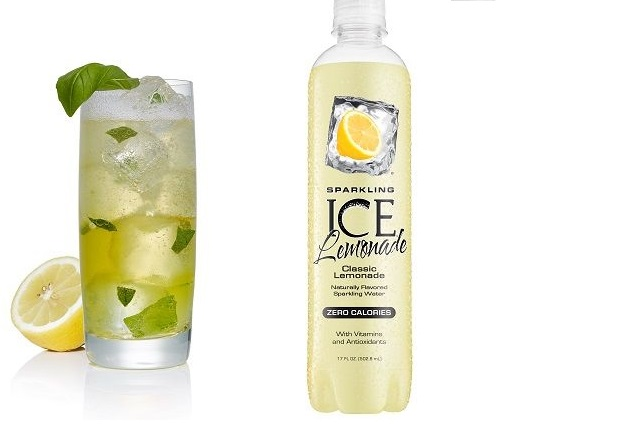 Sparkling Ice Spiked Basil Lemonade