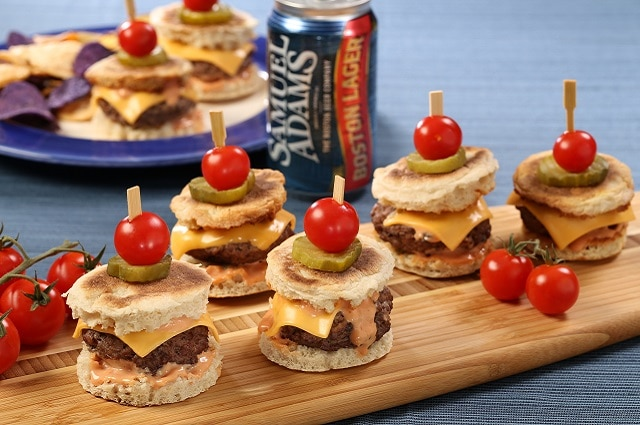 "Cheese ""Burker"" Sliders & Samuel Adams Ketchup"