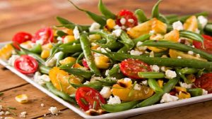 Green Bean Salad with Sweet Tomatoes & Grilled Corn