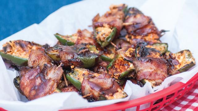 Smokey Stuffed Jalapeños With Bacon