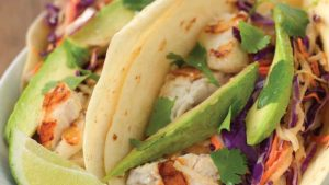 Catfish Tacos with Thai Cabbage Slaw