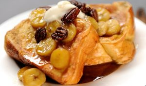 Brandied Bananas French Toast