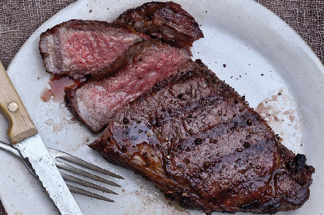 Cherry-Smoked Strip Steak
