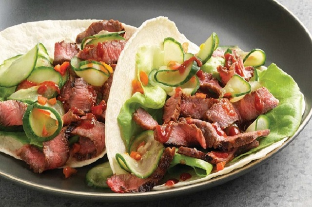 Korean Short Rib Tacos with Kogi Sauce