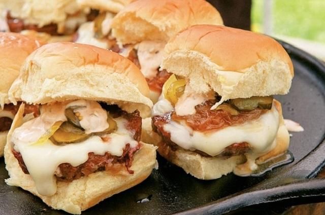 Muffin Tin Smokin' Sliders with 647 Secret Sauce