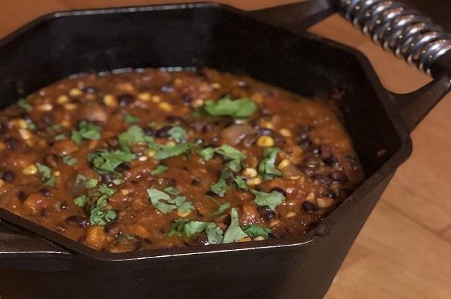 Grilled Veggie & Black Bean Chili