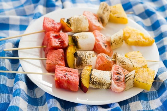 Fruit Kabobs with Dandies Marshmallows